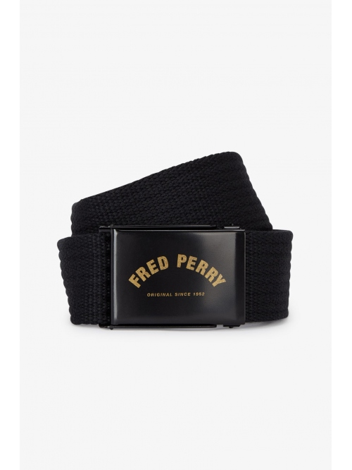 FRED PERRY ARCH BRANDED WEBBING BELT