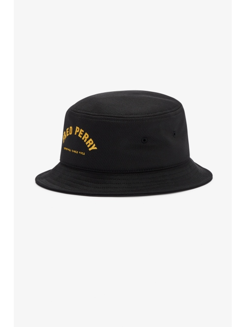 FRED PERRY ARCH BRANDED BUCKET HAT