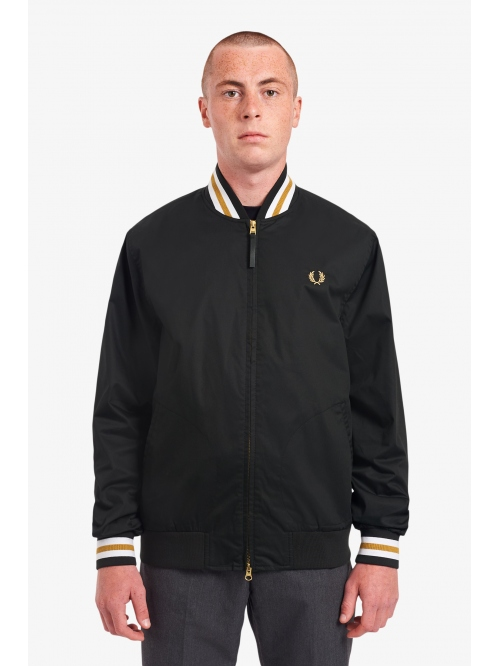 FRED PERRY TENNIS BOMBER JACKET BLACK