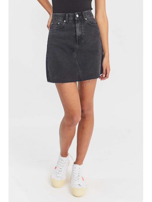 DRDENIM ECHO SKIRT CHARCOAL BLACK