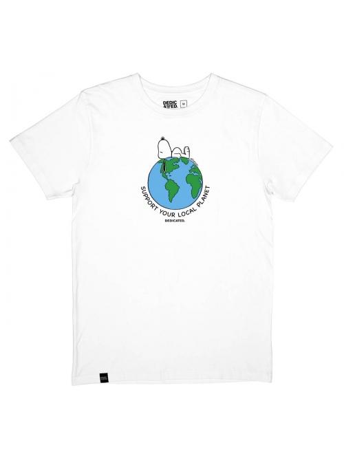DEDICATED SNOOPY EARTH T SHIRT