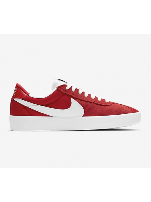NIKE SB BRUIN REACT SHOE RED/WHITE